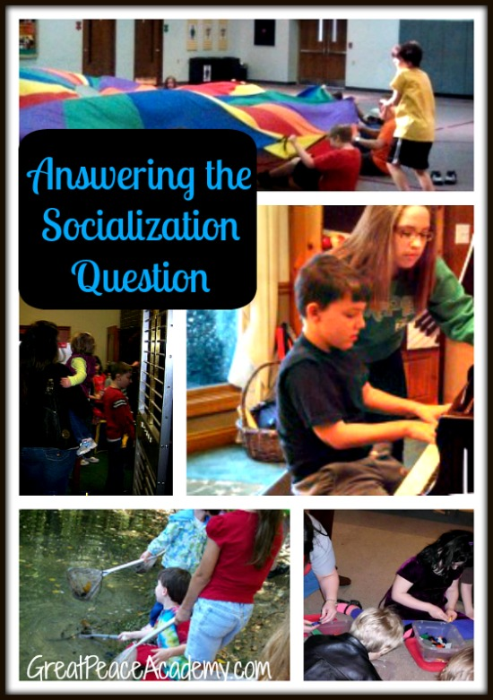 Answering the Socialization Question | Great Peace Academy.com