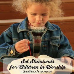 Set the standard, training up in worship.   Great Peace Academy
