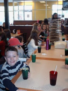 Little Man at Cici's pizza