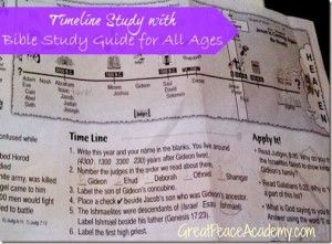 Timeline Study with Bible Study Guide