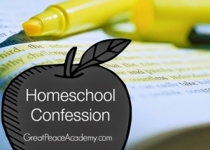 Homeschool Confession at Great Peace Academy
