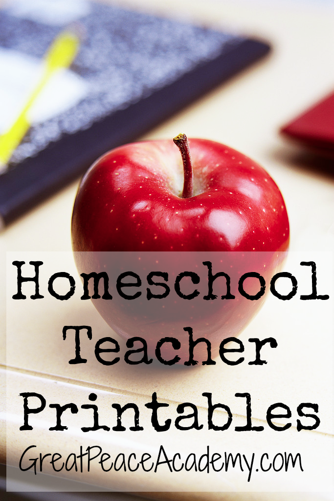 Homeschool Teacher Printable Resources