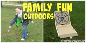 Family Fun Games from Carrom Company good for indoor or outdoor play via Great Peace Academy