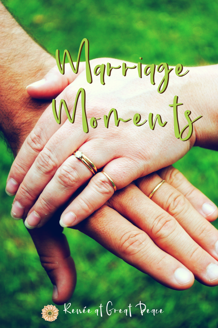 Marriage Moments with Renée at Great Peace~Marriage Moments explores how wives can grow and strengthen their Christian marriages. Learn the bibilical model and find peace when following God's design.