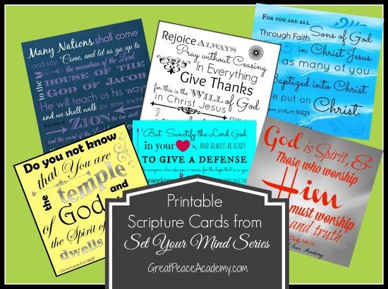 Scripture Card Printables