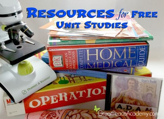 Resources for Unit Studies | Great Peace Academy