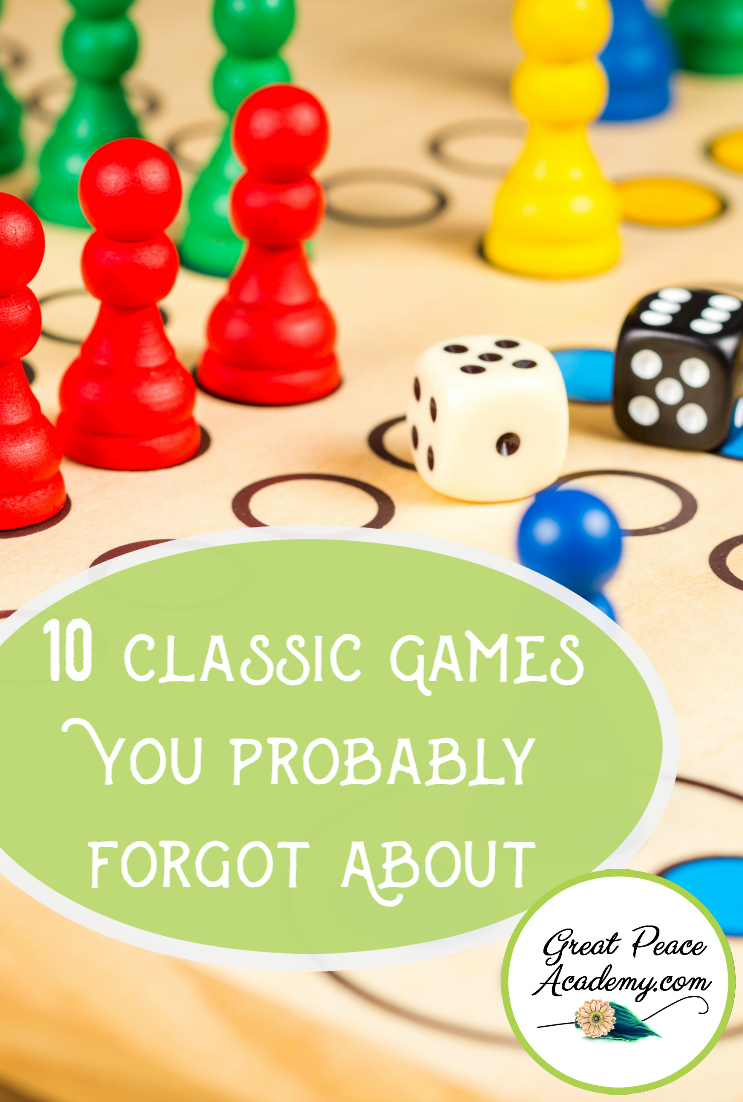 10 Classic Games You Probably Forgot About for Family Time~Games are fun, family game night is fun, combine them with some old fashioned classic games and you can't go wrong. 10 Classic games every family will love.| GreatPeaceAcademy.com #ihsnet