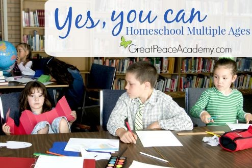 Yes, you can homeschool multiple ages. | Great Peace Academy