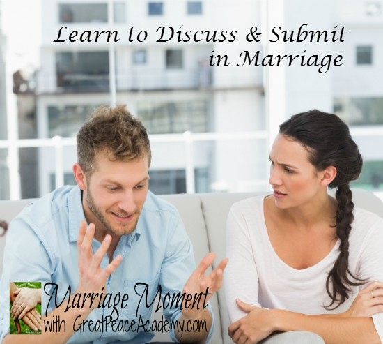 Learning to Make Tough Decisions in Marriage through Discussion & Submission | Marriage Moments with Great Peace Academy