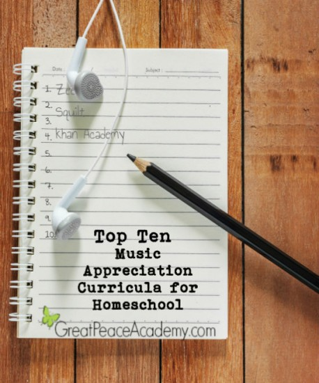 Top 10 Music Appreciation Curricula for Homeschool | Great Peace Academy #ihsnet