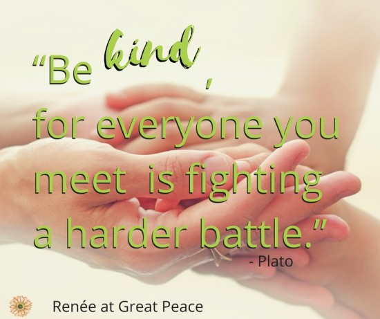 Remember that kindness is an attitude that we practice. | Renée at Great Peace #family #kindness