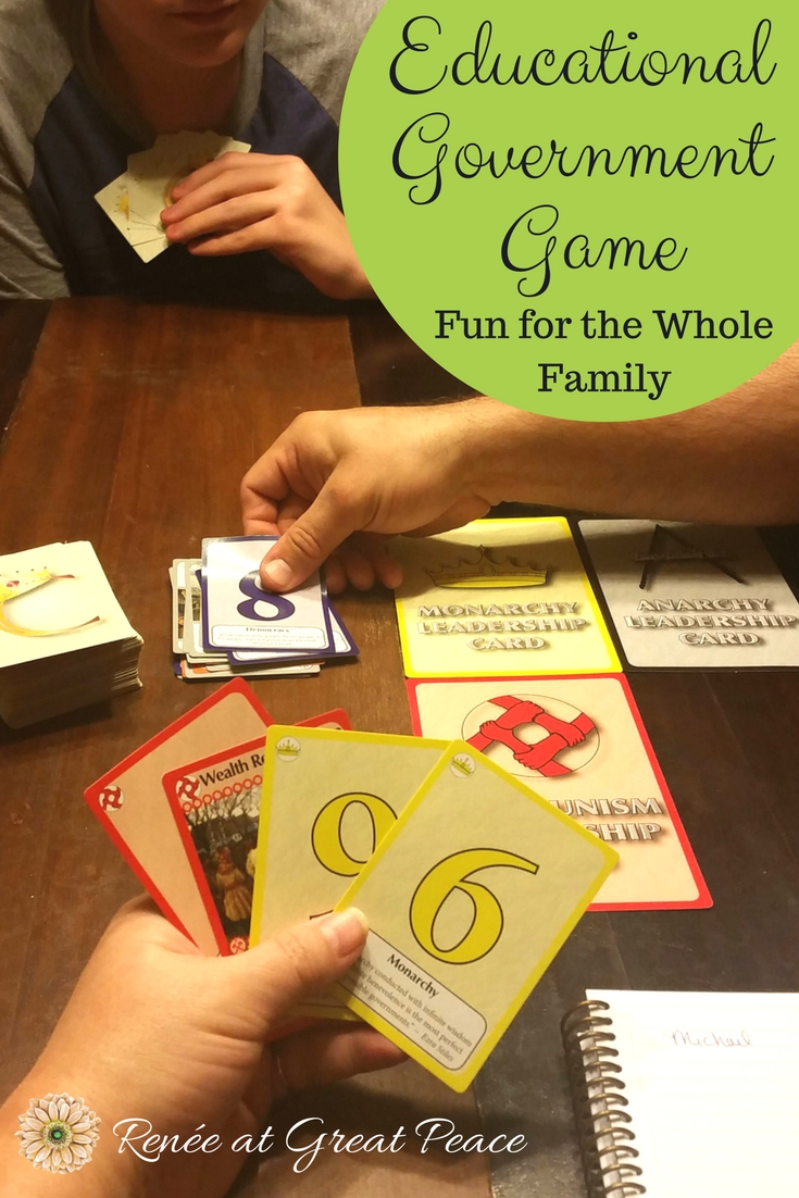An Educational Government Game that's Fun for the Whole Family | Renée at Great Peace